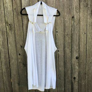 Anthropologie MOTH long cotton cover up